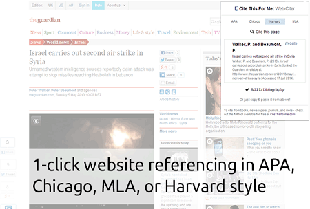 Cite This For Me Chrome Extension for Teachers